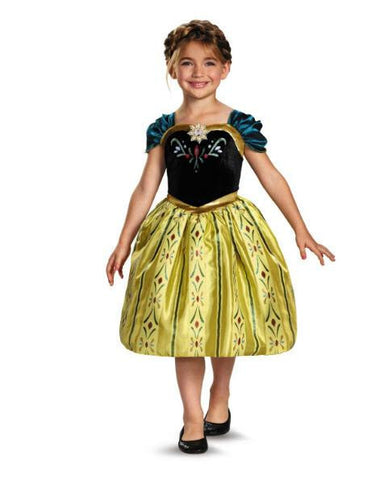 Disney Frozen Anna Coronation Gown Girls Costume