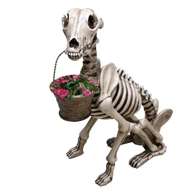 Dog Skeleton Sculpture