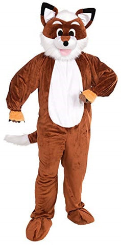 Fox Mascot Mens Adult Costume