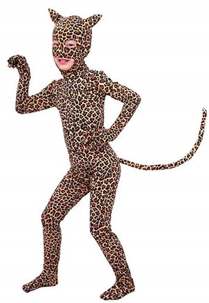 Girls Leopard Animal Costume