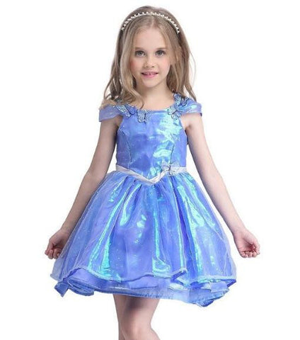 Image of Girls Cinderella Dress Butterfly Princess Costume