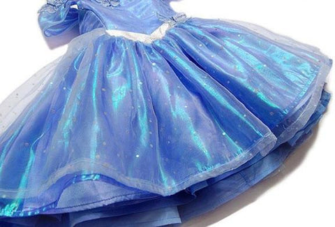 Image of Cute Blue Little Girls Gown
