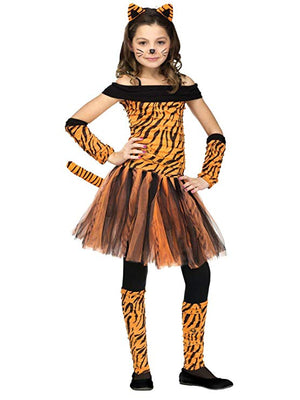 Girls Tiger Cub Animal Costume