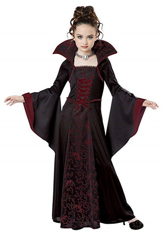 Gothic Vampiress Girls Costume