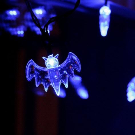 Halloween Bat String Lights LED