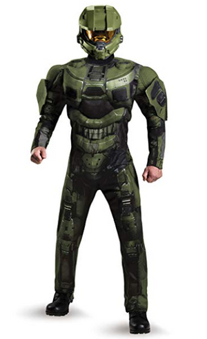 Halo Master Chief Muscle Chest Mens Costume