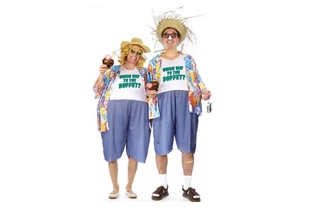 Hawaiian Vacation Costume Traveler Tourist Outfit
