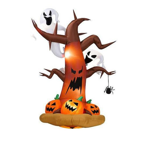 Inflatable Dead Tree With Light Up Ghosts & Pumpkins