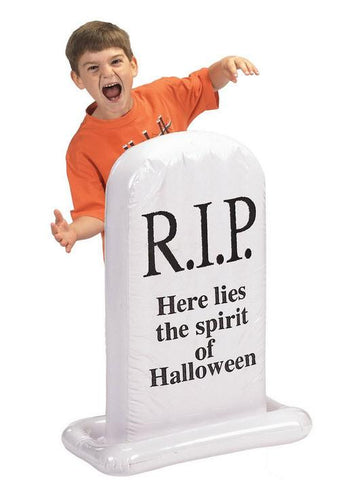 Inflatable Halloween Tombstone Cemetery Spooky Blowup Air Blown Yard Decor