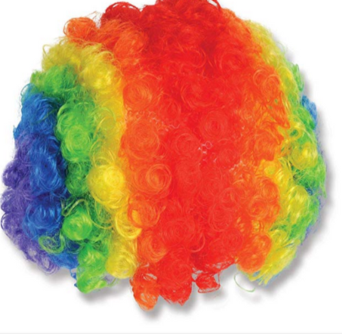 Image of pastel rainbow wig