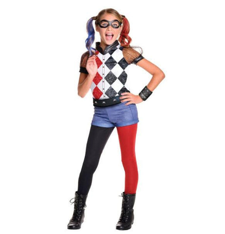 Image of Kids Harley Quinn DC Costume