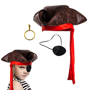 Kids Pirate Hat Set