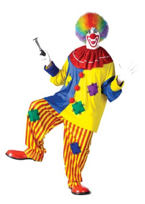 Mens Clown Adult Costume