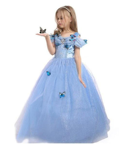 Image of Cinderella Dress Princess Costume With Butterflies