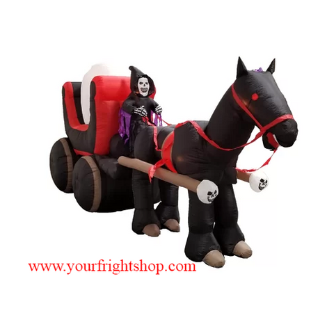 Image of Inflatable Grim Reaper Carriage