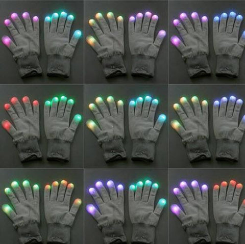 LED Gloves Party Light Show Gloves- 7 Light Flashing Modes