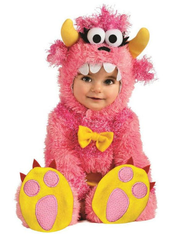 Pink Fuzzy Monster Romper Costume