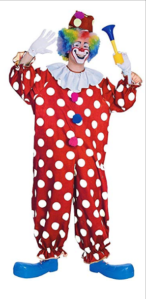 Polka Dot Clown Adult Costume