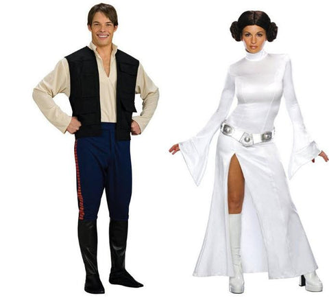 Princess Leia & Han Solo Adult Couples Costume