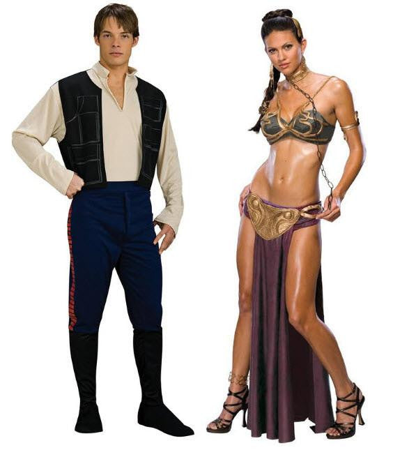Princess Leia Slave & Han Solo Adult Couples Costume