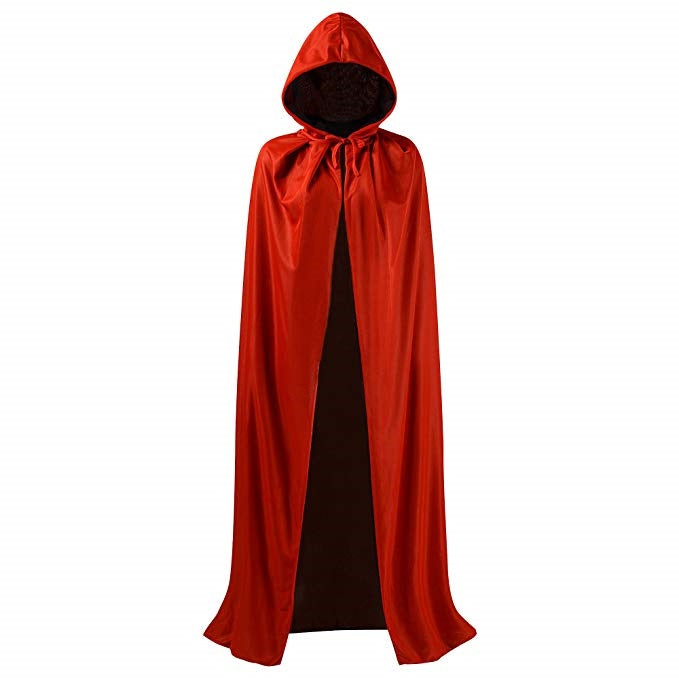 Red Vampire Cape Costume