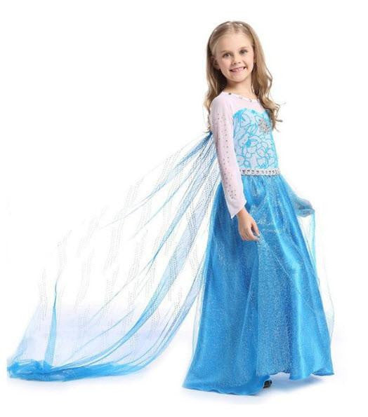 Snow Queen Elsa Party Dress Princess Costume