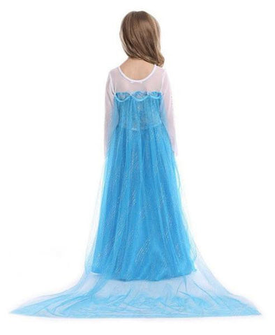 Image of Snow Queen Elsa Party Dress Princess Costume