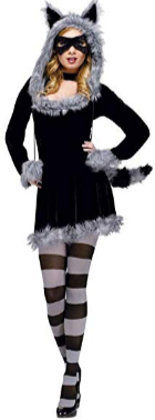 Womens Raccoon Animal Costume