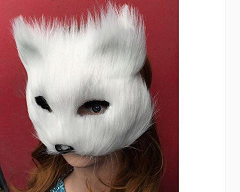 Halloween White Fox Mask