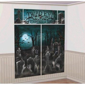 Cemetery Scene Setters Halloween Wall Decorating Kit