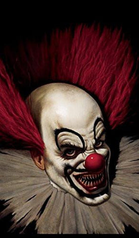"Posters Slammy the Scary Clown Halloween Window Decoration 34.5""x60\""  backlit poster"