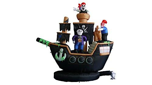 7 ft. Pirate Ship Decoration