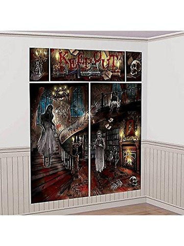 Haunted Mansion Scene Setters Halloween Wall Decorating Kit