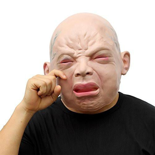 Latex Head Mask Cry Baby