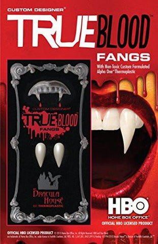 Foothills Creations Men's True Blood Fangs, Enamel, Medium