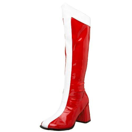 Women's Halloween Red, White, Stripe Boots