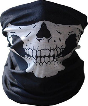 Amazing skull tissue 2pcs black Halloween Scarf