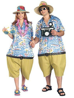 Unisex Tropical Tourist Costume Couples Costume