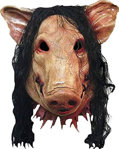 Scary Pig Mask with Hair
