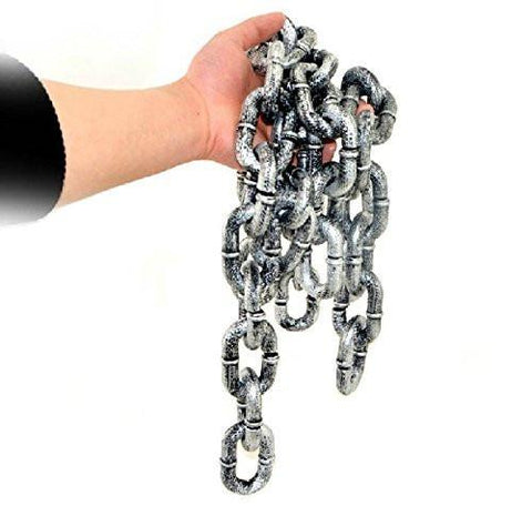 6-feet Plastic Grey & Black Chain Links
