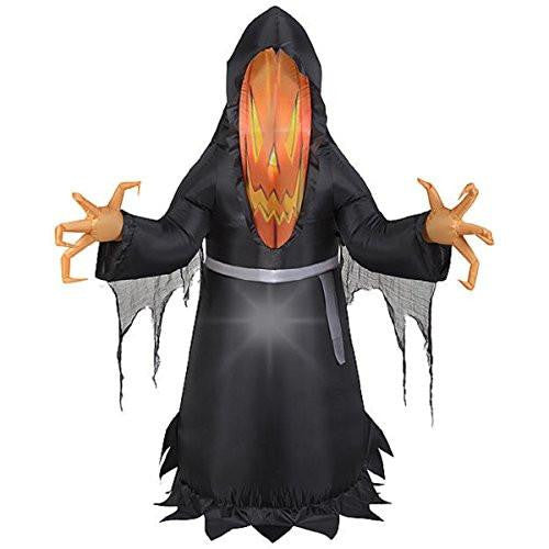 HALLOWEEN INFLATABLE 5' PHOTOREAL PUMPKIN FACE MONSTER DECORATION PROP