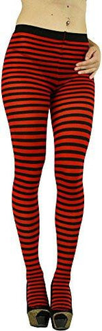 Women's Colorful Opaque Striped Tights Pantyhose Stocking Hosiery Multiple Colors