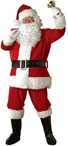 Santa Claus Red Plush Suit