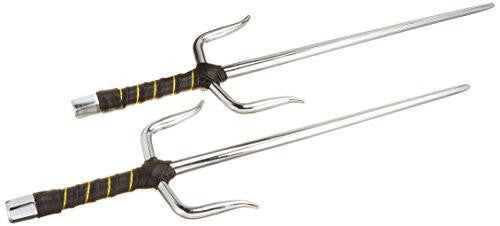 Metal Martial Arts Sai, Set of Two, 15-Inch Length