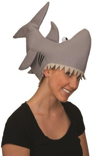 Grey Shark Hat - Adult