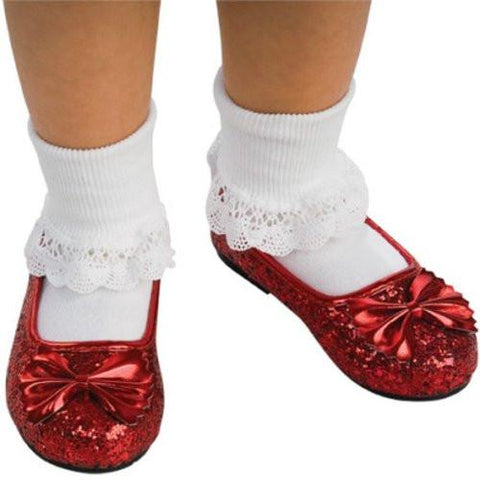 Image of Wizard of Oz Child's Deluxe Dorothy Ruby Red Slippers