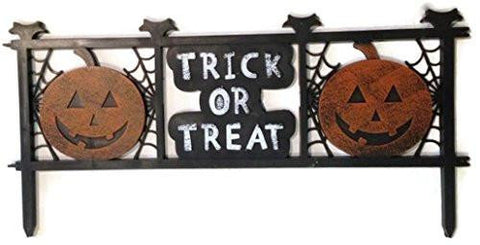 Trick or Treat Halloween Fence Yard Decor