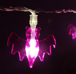 Halloween Bat String Lights 24 LED Battery Operated