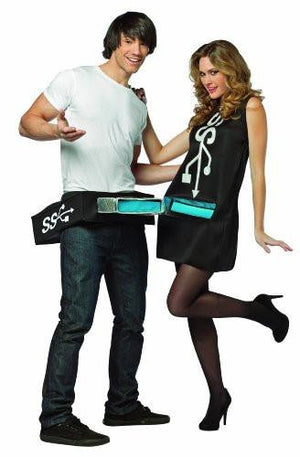 USB Port and Stick Couples Costume
