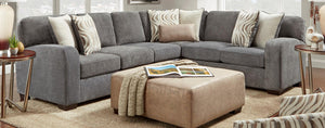 WEEKLY or MONTHLY. Chandler Steel Sectional